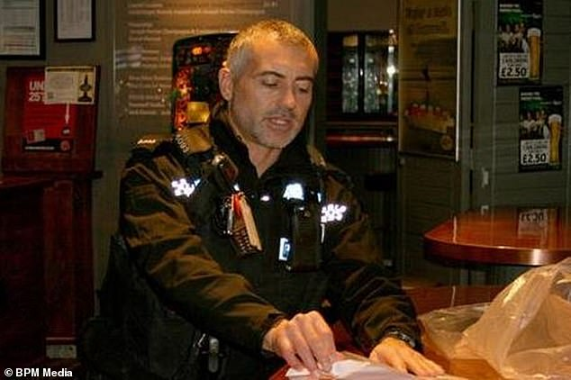 Pc Darral Mares, pictured, is recovering in hospital following an incident in Newquay