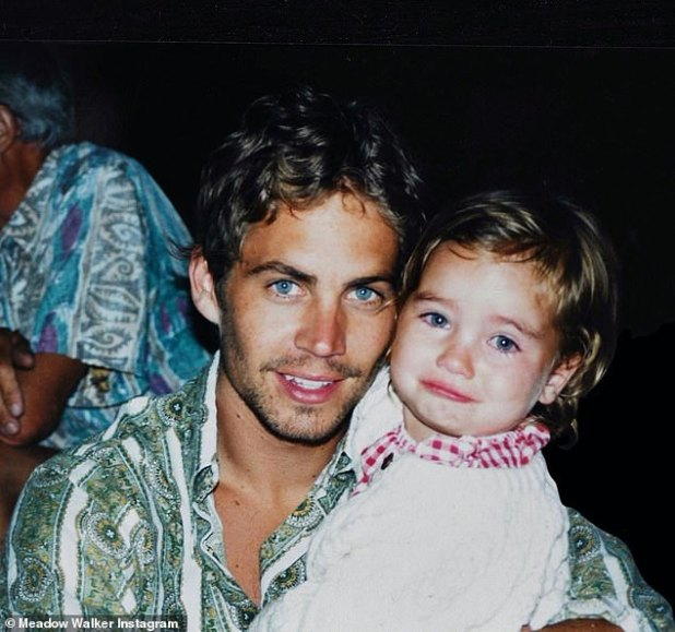 Soon Gone: Meadow Walker shared this sweet snap of his late father, Paul Walker, on Saturday to mark his 47th birthday