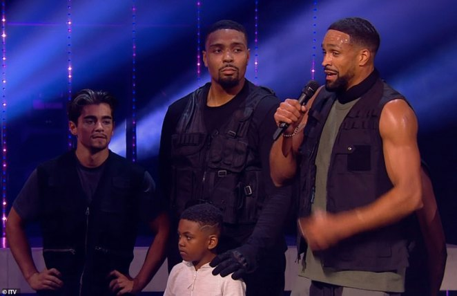 Routine: The former Britain's Got Talent champions opened Saturday's performance by reciting a viral poem The Great Realisation by the singer Tomfoolery, about the BLM movement and police brutality