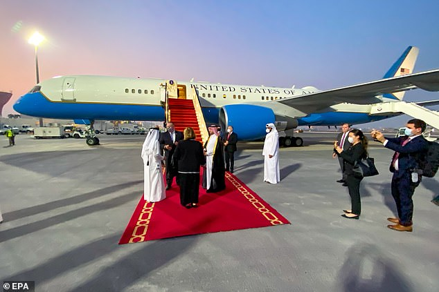 Secretary of State Mike Pompeo arrives in Doha to take part in Intra-Afghan negotiations in Doha, Qatar on September 11, 2020