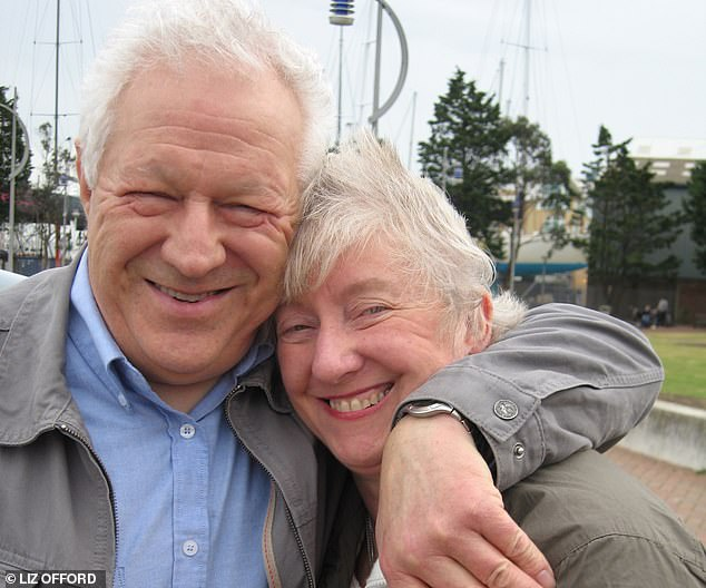 Hurting: Liz Offord with husband Ray, who thinks she has abandoned him. She said: 'It hurts, so much. I¿d have him home but I couldn¿t manage, as his dementia made him aggressive'