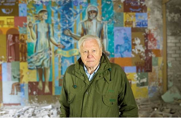 Pripyat in Ukraine is a place unlike anywhere else I have been. It is a place of utter despair. David Attenborough is seen above in Ukraine in a documentary on Chernobyl