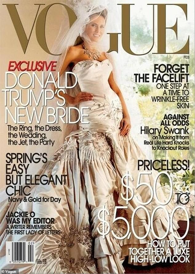 In the interview, Wolkoff also referenced Melania's appearance on the cover of Vogue in a February 2005 feature on the wedding