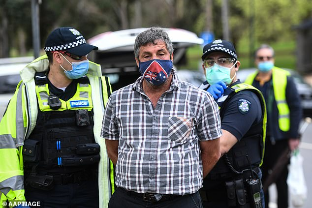 A mask-wearing protester has already been arrested as police prepare for an anti-lockdown protest in Melbourne on Saturday
