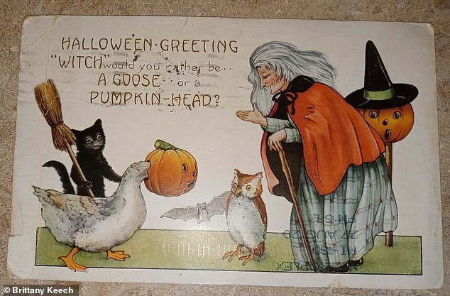 The card was suitably Halloween themed but never made its way to its intended recipient