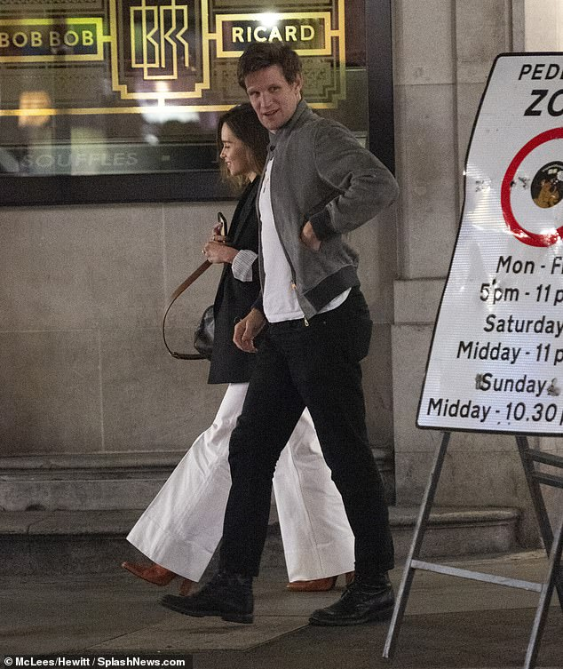 Matt Smith, who played Prince Philip in The Crown, spent the evening with Emilia Clarke, Princess Daenerys Targaryen in Game Of Thrones, in Soho sparking speculation of romance