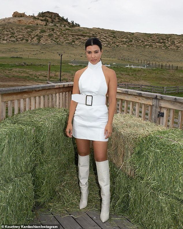 Return: On Friday, she uploaded a pair of stylish throwback photos taken during her trip to Wyoming in June with ex Scott Disick and their three children