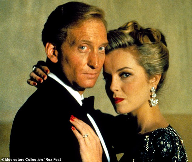 Dance was invited to an audition when Bond producers were seeking to replace Roger Moore. He is seen above in suave mode with Greta Scacchi in 1987 film White Mischief