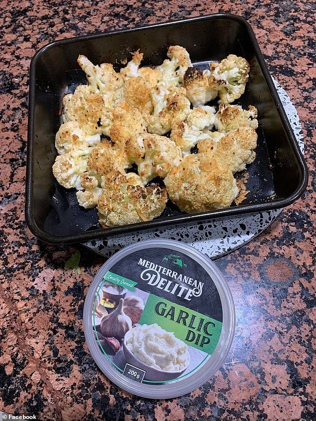In August another woman used the same dip to add a burst of flavour to roasted vegetables