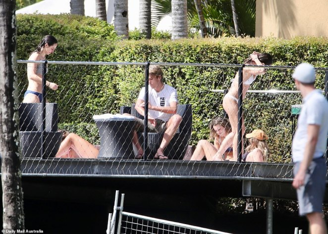Temperatures in Queensland reached a warm 22C on Sunday, when several women were spotted laying by the pool