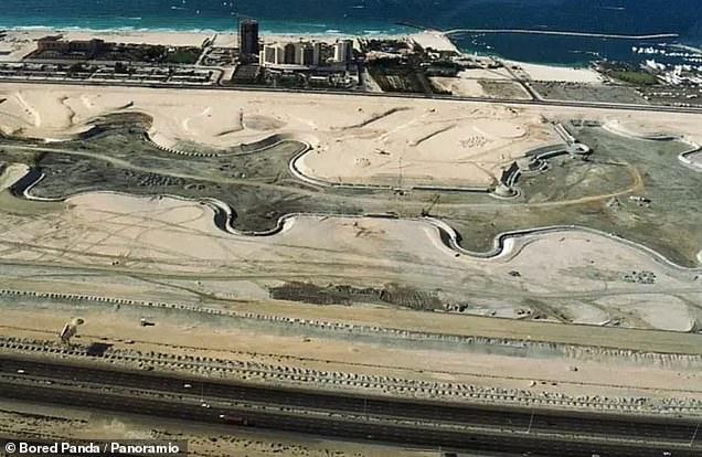 The Dubai Marina looking pretty empty in 2000