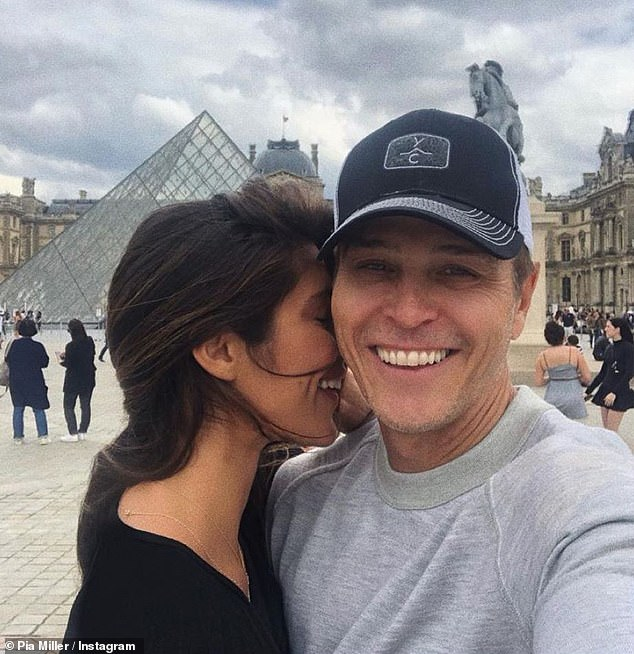 Going public: Pia made their relationship 'Instagram Official' on Christmas Eve. She shared a loved-up photo with Patrick outside of the Louvre in Paris, captioning it 'P²'