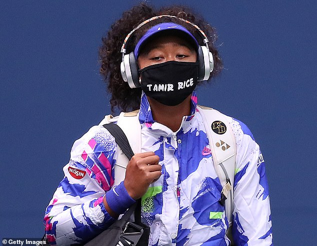 Osaka has worn a mask before every match in New York bearing the names of black people killed in violent interactions with either police or others