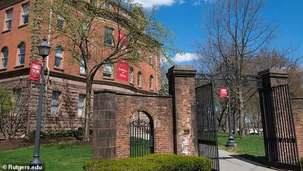 The shooting took place on Delfield Street, which sits just half a mile from the Rutgers University campus in New Brunswick, New Jersey (pictured).