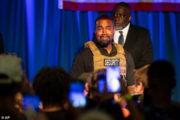 Judge West (pictured at the South Carolina Rally on Friday) does not qualify for the presidential election at Kanye West battleground Wisconsin.