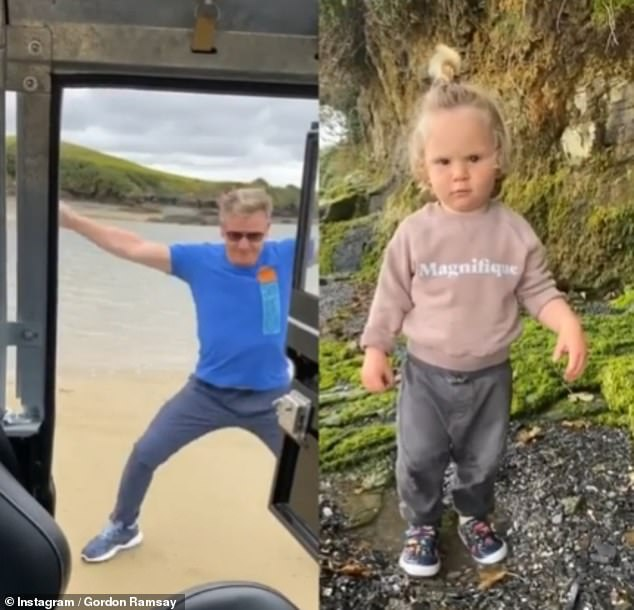 Watch them at work! In a cute video shared to Instagram over the weekend, the chef, 53, sang along to Nightcrawlers' Push The Feeling On, before jumping out of his car