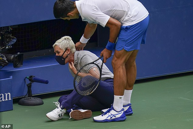 Line judge Laura Clark was subjected to shocking abuse after the incident with Novak Djokovic