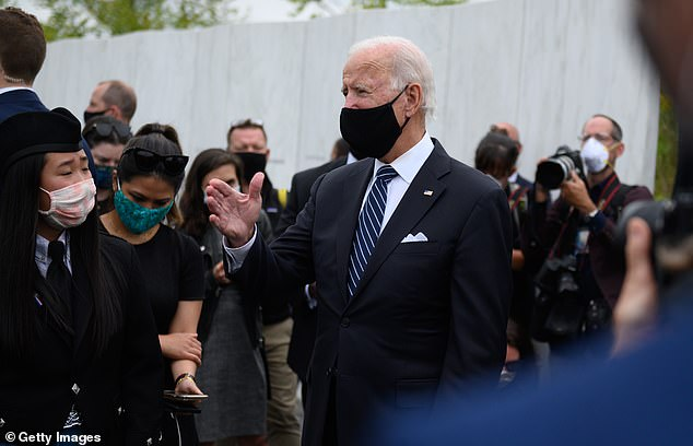 Trump railed repeatedly against Democratic rival Joe Biden at his rally, saying:'He is the worst candidate in the history of presidential politics. He doesn't know he is alive'