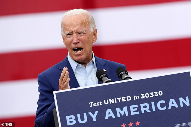 Sanders believes Joe Biden (pictured) needs help with Latinos, young Americans and members of the progressive movement, three constituencies that went for the Vermont senator during the 2020 Democratic primaries