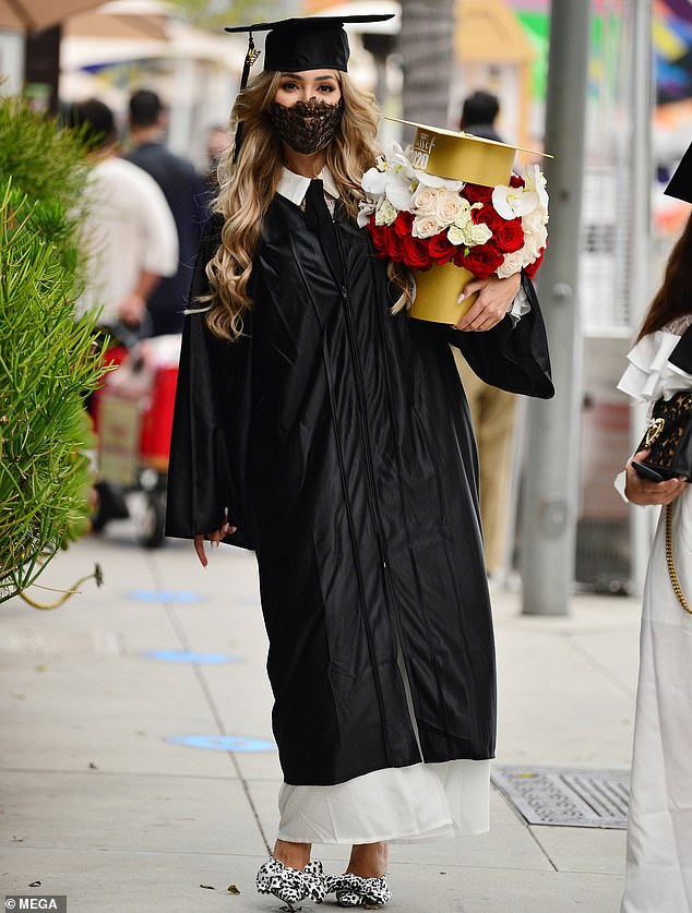 The Graduate: Farrah Abraham, 29, celebrates her LA Film School graduation with lunch at Spago in Beverly Hills on Saturday