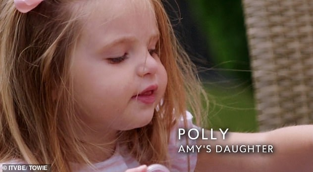 Future: Although Amy has insisted she would never pressure Polly to follow in her footsteps with a career in reality television, she mused, 'I think she is made for TV'
