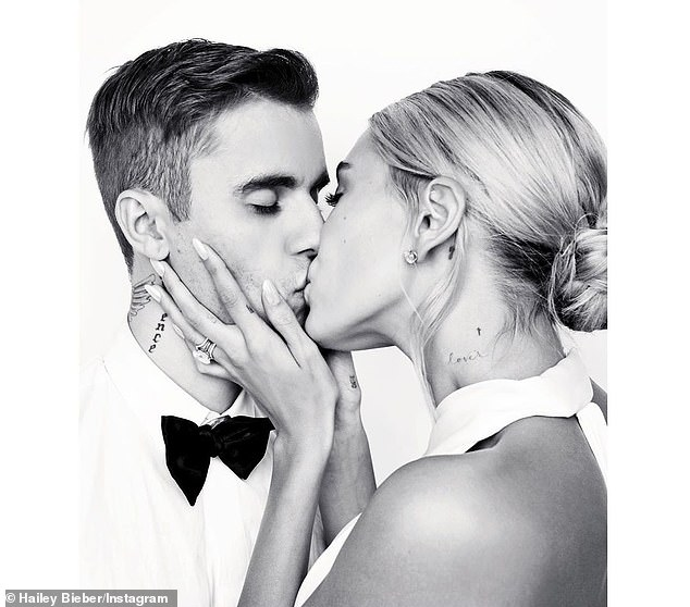 Double union: Hailey and Justin wed for the first time in September of 2018 before throwing a larger wedding with their family and friends the following fall; October 2019