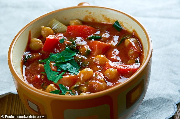 Chickpea Soup with Greens