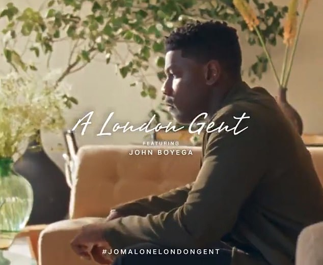 Boyega in his Jo Malone London advert. In the Chinese version he was replaced by actorLiu Hoaran