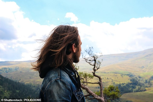Australian men prefer to grow their hair to shoulder length, Lara has noticed since moving to Melbourne (stock image)