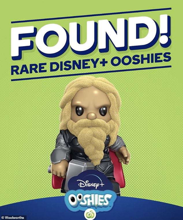 The ultra rare furry Thor (pictured) will also be in hot demand among shoppers, with just 100 of the figurines circulating around the country