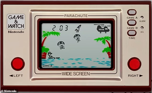 This is how the Game & Watch looked in 1981. All the games were in black and white back then