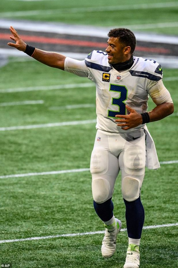 Sweet success: Russell leads Seahawks to victory over Falcons in Atlanta as NFL begins a new season