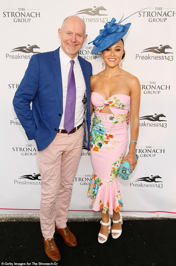 Latest: Real Housewives of 32-year-old Potomac star Ashley Derby revealed in the reality series version on Sunday that her husband Michael Darby, 59, was involved in an incident at a strip club in which 'this is a woman touching him'