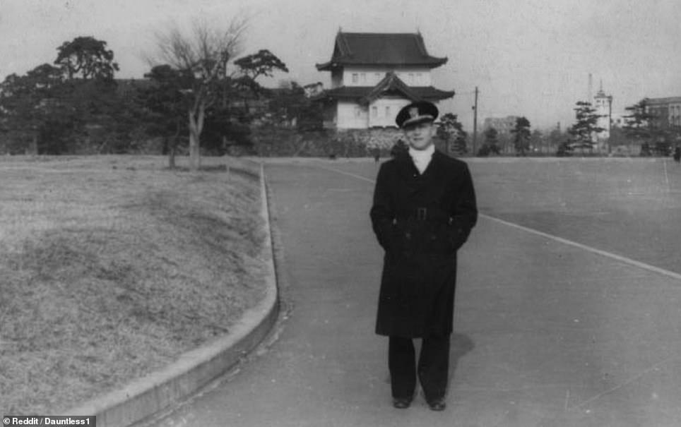 A grandfather pictured in Tokyo circa 1946