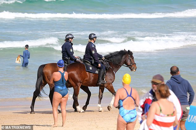 Drones will be used to monitor social distancing and crowd numbers at some of New South Wales' most popular beaches this summer. Pictured: Bondi Beach