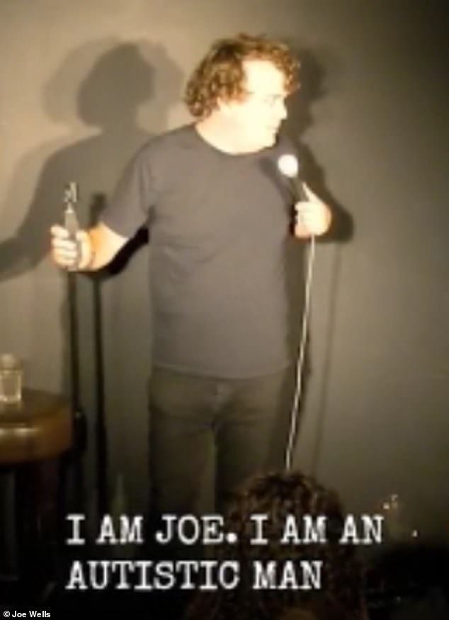 Joe Wells (pictured) performed his sketch at the Top Secret Comedy Club in London where he joked that if the audience heckled him it would be a 'hate crime'
