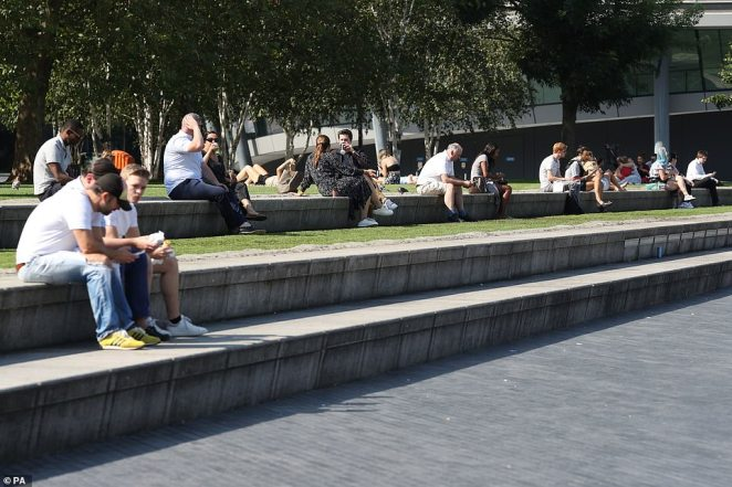 The new Rule of Six Covid-19 restriction comes into effect today, with members of the public still allowed to gather outside, there was plenty of room left for social distancing at Potters Field Park near City Hall in London