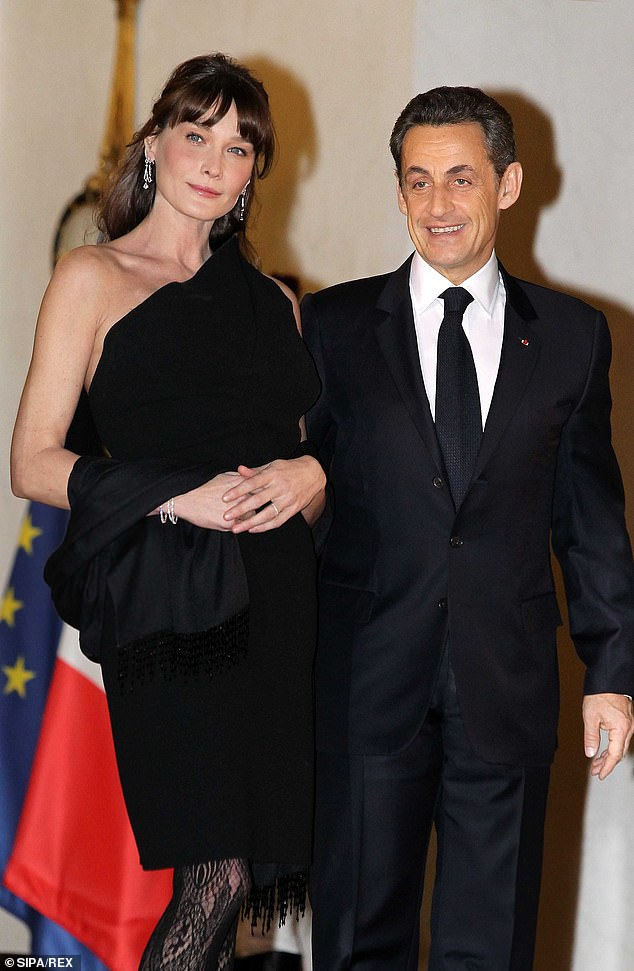 Carla Bruni went on to marry Nicolas Sarkozy in 2008, a year after they met, and a year into his tenure as President of France (pictured in 2011)