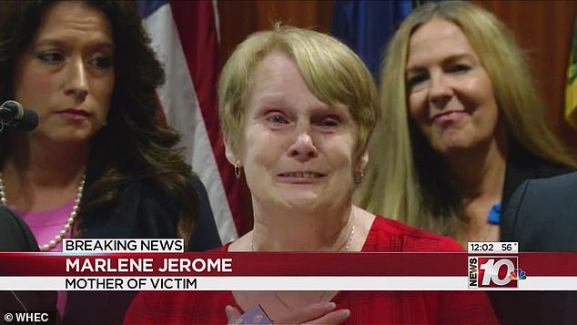 'It's finally over': Wendy's mother, Marlene Jerome, spoke at a press conference in Rochester last week, saying through tears that she never thought this day would come