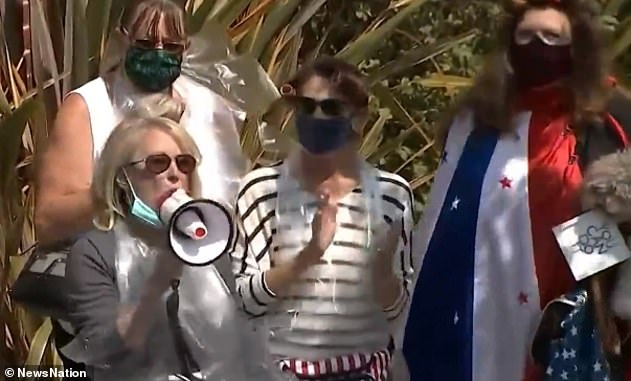 The day after Kious' interview, fellow enraged citizens flocked to Pelosi's home to condemn decision to visit a salon without a mask whilst publicly insisting that California businesses remain closed and calling for a federal face covering mandate