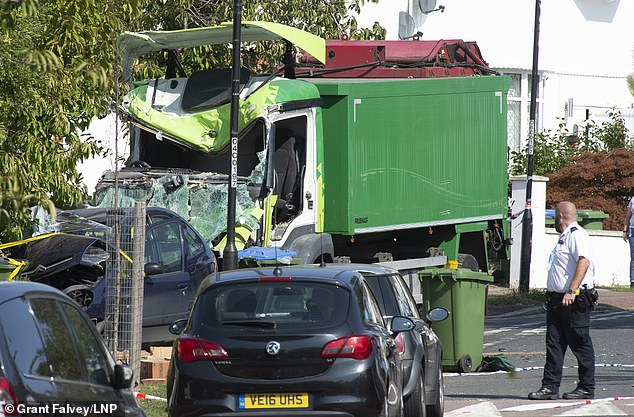 A lorry driver has died and an 11-year-old child has been rushed to hospital following the crash in Kidbrooke, south east London, at around 8am this morning