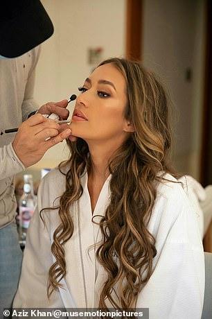 Makeup artist Fabio Sarra was responsible for creating the glamorous look