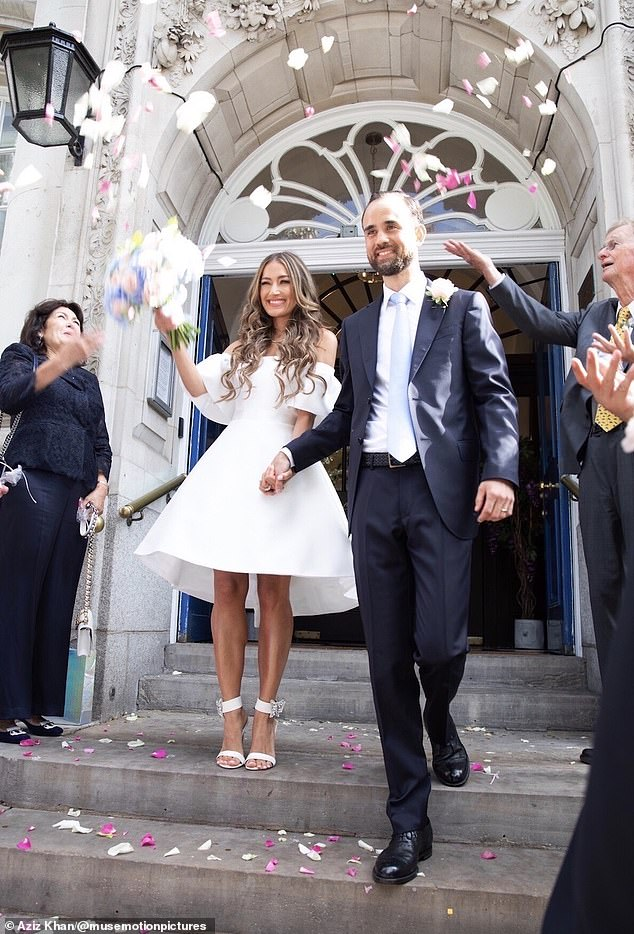 I do!Aruna Seth, who founded her eponymous shoe label in 2009, married her dashing fiance Thomas in an intimate civil ceremony at Chelsea Old Town Hall on August 26