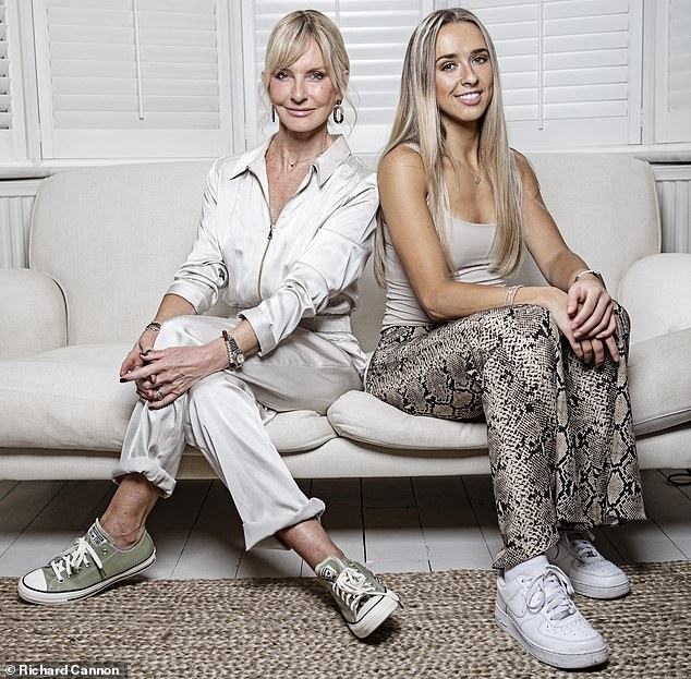 The responsibility Amelia (pictured with her mother) feels has taken its toll: she split up with her long-term boyfriend recently because she felt he didn't understand what she was going through