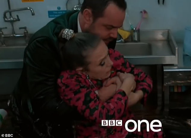 Captivating TV:EastEnders has two events nominated in the long list for best show-stopper including the 35th anniversary river disaster (pictured Linda and Mick Carter)