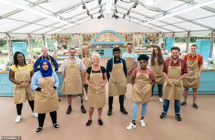Let's bake! Channel 4 has unveiled the 12 home-bakers competing in the eleventh season of The Great British Bake Off, due to hit screens next Tuesday (L-R: Hermine, Sura, Rowan, Marc, Laura, Linda, Makbul, Dave, Loriea, Lottie, Mark and Peter)