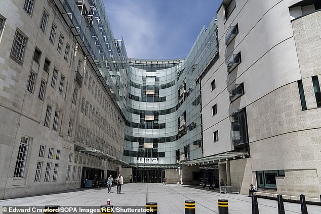 It also emerged that the BBC had given pay rises to more than 700 female employees since the start of its equal pay scandal. Pictured:BBC head quarters