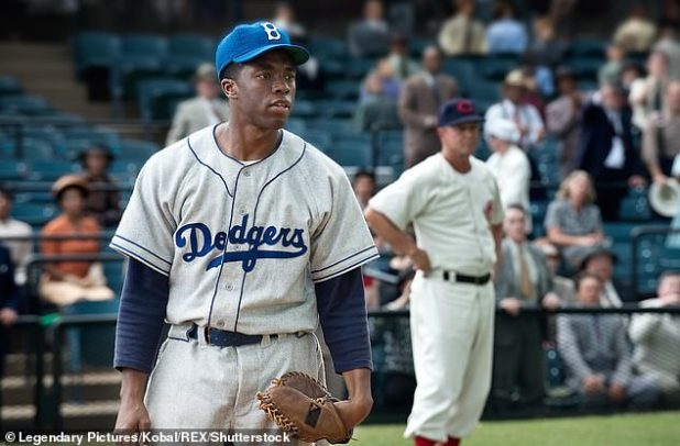 Legend: Chadwick starred as Jackie Robinson in the 2013 film 42