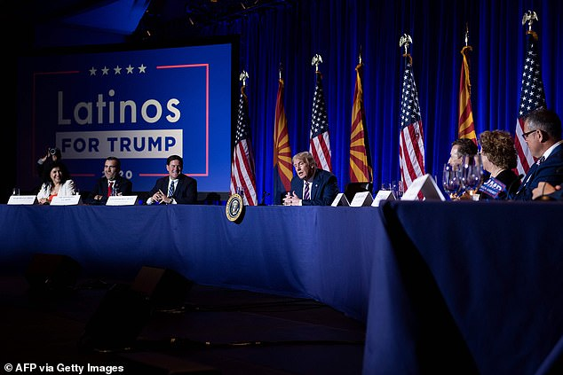 President Trump at his Latinos for Trump roundtable