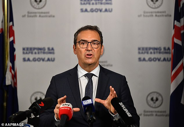 SA Premier Steven Marshall (pictured) said the restrictions would be altered in line with health advice
